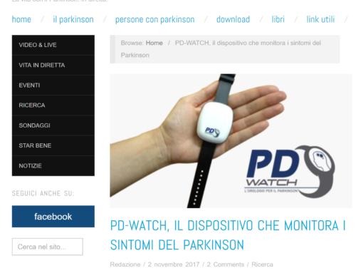 """Anche """"Parkinson Live"""" parla di PD-Watch e della campagna di crowdfunding"""