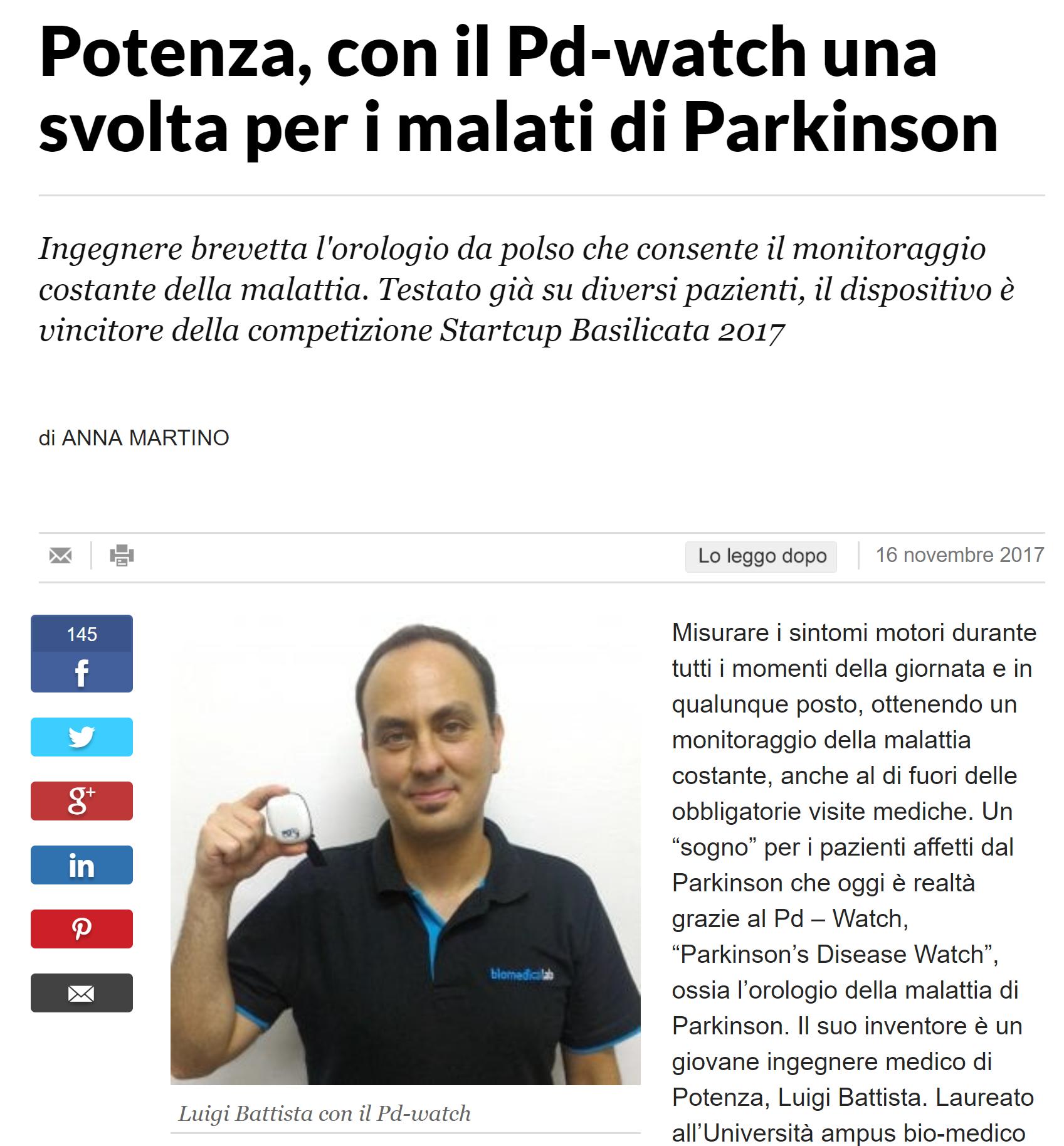 La Repubblica: con il PD-Watch una svolta per i malati di Parkinson